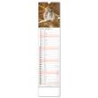 Nástenný kalendár Lesní zvěř – Lesná zver CZ/SK 2022, 12 × 48 cm
