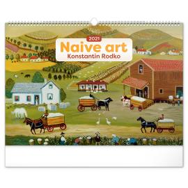 Nástenný kalendár Naivné umenie – Konstantin Rodko 2021, 48 × 33 cm