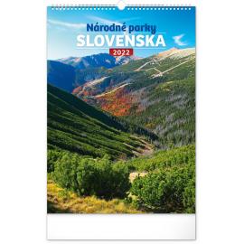 Nástenný kalendár Národné parky Slovenska 2022, 33 × 46 cm