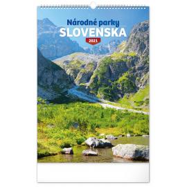 Nástenný kalendár Národné parky Slovenska SK 2021, 33 × 46 cm