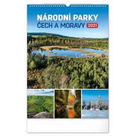 Nástěnný kalendár Národné parky Čech a Moravy CZ 2021, 33 × 46 cm