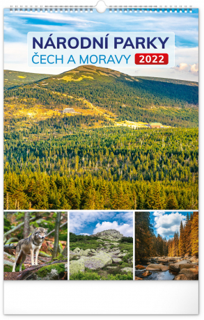 Nástenný kalendár Národné parky Čech a Moravy CZ 2022, 33 × 46 cm