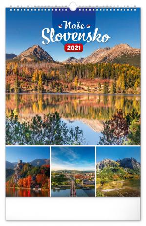 Nástenný kalendár Naše Slovensko 2021, 33 × 46 cm