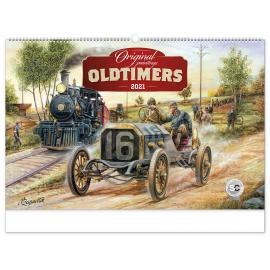 Nástenný kalendár Oldtimers – Václav Zapadlík 2021, 64 × 42 cm