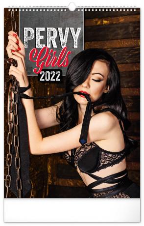 Nástenný kalendár Pervy Girls 2022, 33 × 46 cm