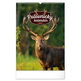 Nástenný kalendár Poľovnícky SK 2021, 33 × 46 cm