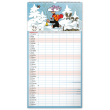 Nástenný kalendár Rodinný plánovací Krtko XXL CZ 2022, 33 × 64 cm