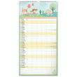 Nástenný kalendár Rodinný plánovací XXL 2022, 33 × 64 cm