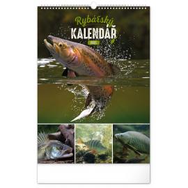 Nástenný kalendár Rybársky CZ 2021, 33 × 46 cm
