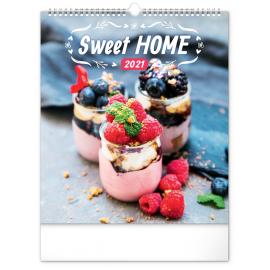Nástenný kalendár Sweet Home 2021, 30 × 34 cm