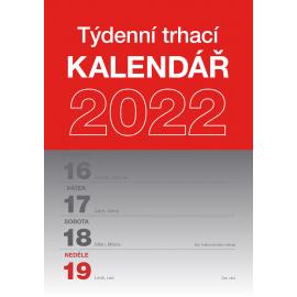 Nástenný kalendár Trhací týždenný 2022, A5