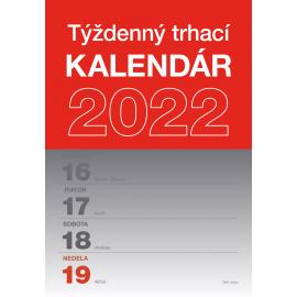 Nástenný kalendár Trhací týždenný 2022 SK, A5