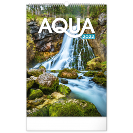 Nástenný kalendár Voda 2022, 33 × 46 cm