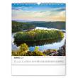 Nástenný kalendár Vodné kráľovstvo – české priehrady CZ 2021, 30 × 34 cm