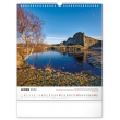 Nástenný kalendár Vodné kráľovstvo – české priehrady CZ 2022, 30 × 34 cm