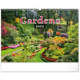 Nástenný kalendár Záhrady 2022, 48 × 33 cm