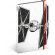 Notes Star Wars – Tie, linajkovaný, 13 x 21 cm