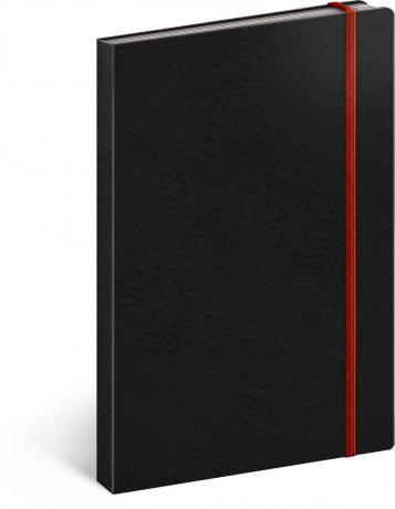 Notes Tucson čierny/červený, linajkovaný, 13 x 21 cm