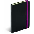 Notes Tucson čierny/ružový, linajkovaný, 13 x 21 cm