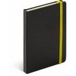 Notes Tucson čierny/žltý, linajkovaný, 13 x 21 cm