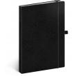 Notes Vivella Classic čierny/čierny, bodkovaný, 15 × 21 cm