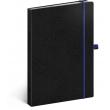 Notes Vivella Classic čierny/modrý, bodkovaný, 15 × 21 cm