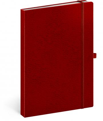 Notes Vivella Classic červený/červený, linajkovaný, 15 x 21 cm