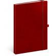Notes Vivella Classic červený/červený, linajkovaný, 15 × 21 cm