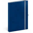Notes Vivella Classic modrý/biely, linajkovaný, 15 × 21 cm