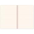 Notes Vivella Classic modrý/červený, linajkovaný, 15 x 21 cm