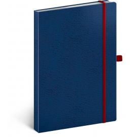 Notes Vivella Classic modrý/červený, bodkovaný, 15 x 21 cm