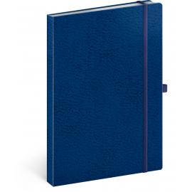 Notes Vivella Classic modrý/modrý, linajkovaný, 15 x 21 cm