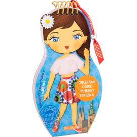 Obliekame české bábiky Terezka - maľovanky (CZ)