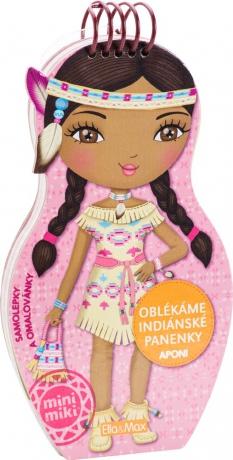 Oblékáme indiánske panenky Aponi - maľovanky
