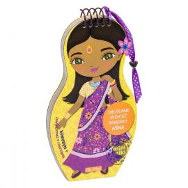 Oblékáme indické panenky AŠNA – Omalovánky