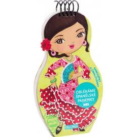 Oblékáme španielske panenky Ines - maľovanky