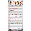 Plánovací kalendár Cowboys, nedatovaný, 30 x 30 cm