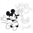 Poznámkový kalendár Mickey Mouse – DIY: Maľovankový kalendár s pastelkami, 30 x 30 cm