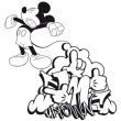 Poznámkový kalendár Mickey Mouse – DIY: Maľovankový kalendár, 30 x 30 cm