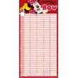 Plánovací kalendár Minnie, nedatovaný, 30 x 30 cm