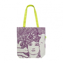 Plátenná taška Alfons Mucha – Amethyst, Fresh Collection