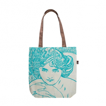 Plátenná taška Alfons Mucha – Emerald, Fresh Collection