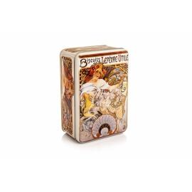 Plechovka Alfons Mucha – Biscuits, veľká