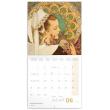 Poznámkový kalendár Alfons Mucha 2021, 30 × 30 cm