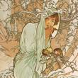 Poznámkový kalendář Alfons Mucha 2022, 30 × 30 cm