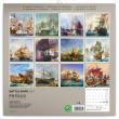 Poznámkový kalendár Bojové lode 2021, 30 × 30 cm