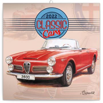 Poznámkový kalendář Classic Cars – Václav Zapadlík, 2022, 30 × 30 cm