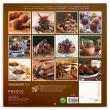Poznámkový kalendář Čokoláda 2022, voňavý, 30 × 30 cm