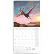 Poznámkový kalendár Dinosaury 2021, 30 × 30 cm