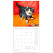 Poznámkový kalendár Mačky na plátne 2021, 30 × 30 cm